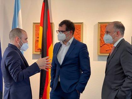 El ministro Martín Guzmán se reunió con el secretario de Finanzas de Alemania, Wolfgang Schmidt, y el secretario de Estado del ministerio de asuntos exteriores, Niels Annen