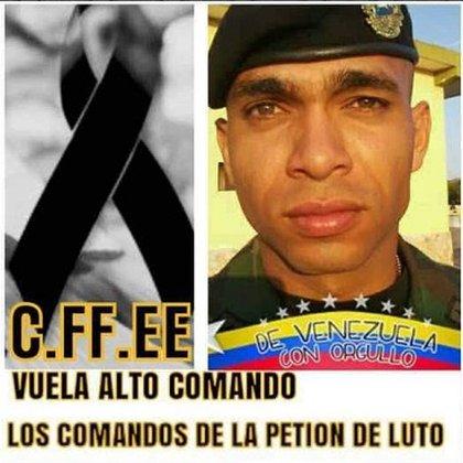 El teniente venezolano (Ej) Roberto Ulpin González, asesinado por el ELN