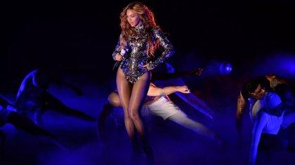 Beyoncé durante los Grammys. (AFP)