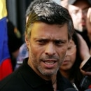 Venezuelan opposition leader Leopoldo Lopez talks to the media at the residence of the Spanish ambassador in Caracas, Venezuela May 2, 2019. REUTERS/Manaure Quintero NO RESALES. NO ARCHIVES