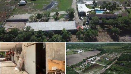 El rancho decomisado a presuntos integrantes del Cártel del Golfo (Foto: Especial)