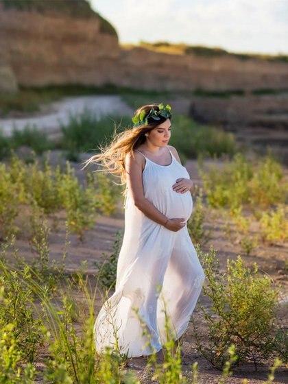 Así luce la actriz en la recta final de su embarazo. (Foto: Instagram)
