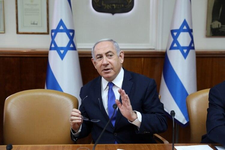Benjamin Netanyahu (Abir Sultan/Pool via REUTERS)