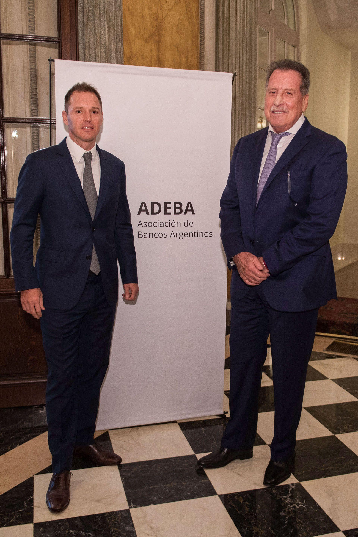 Jorge Brito (h), vicepresidente 1ero de ADEBA, y Jorge Horacio Brito (Banco Macro)