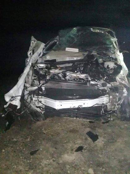 Así quedó la camioneta después del accidente (@Julioac13)