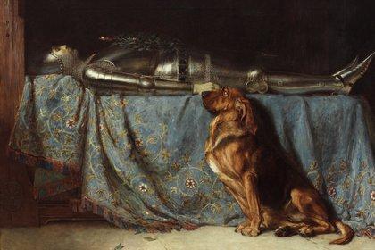 """""""Requiescat"""" (1888) de Briton Rivière"""