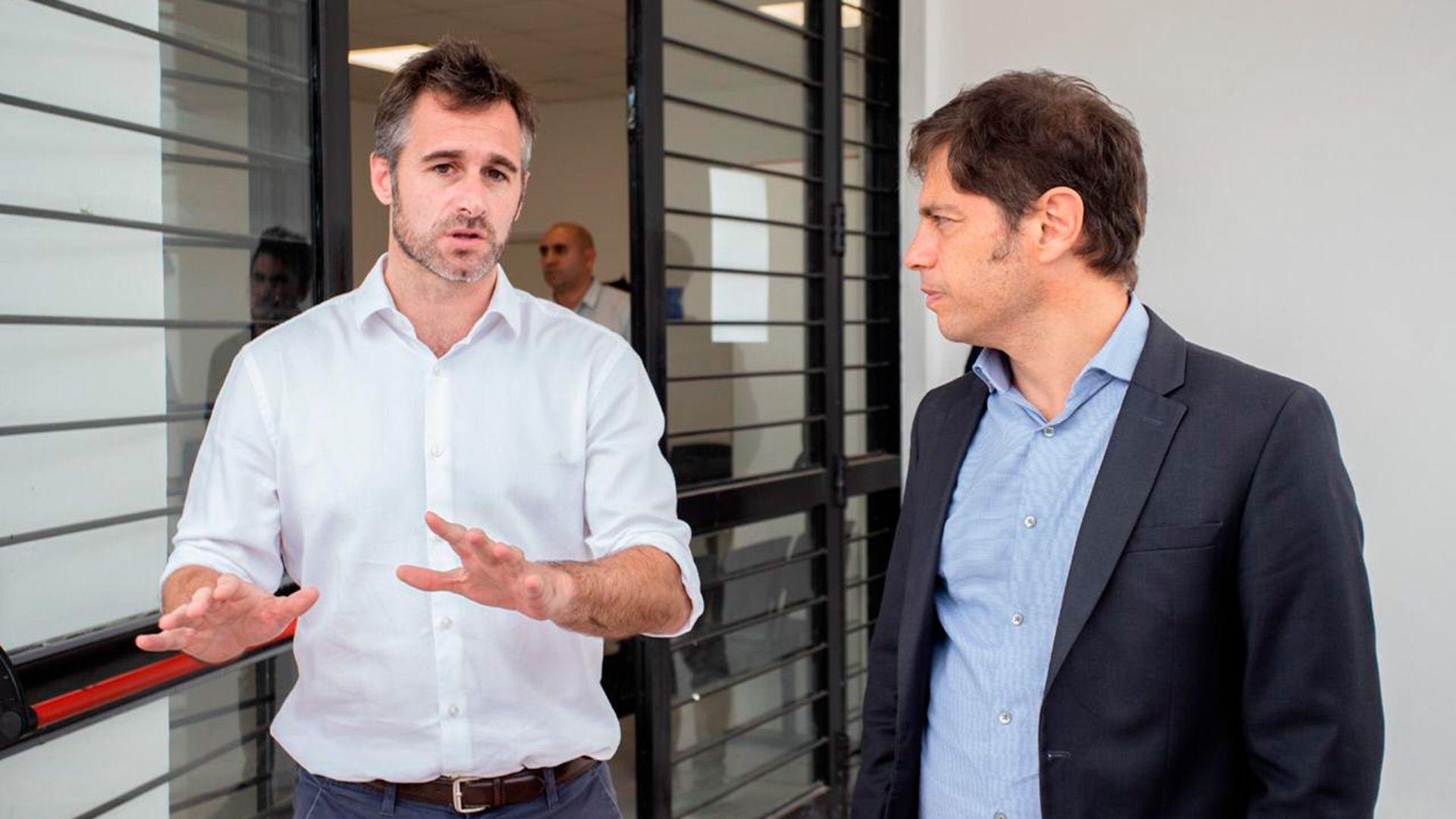 El gobernador de la provincia de Buenos Aires junto al intendente de Pilar, Federico Achaval