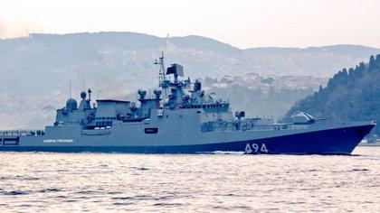 La fragata Almirante Grigorovich (@YorukIsik)