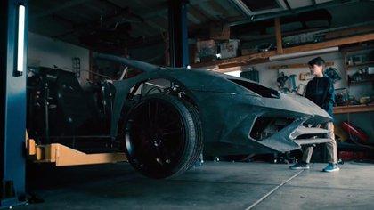 El Aventator que un padre construyó en Estados Unidos con una impresora 3D. (Lamborghini)