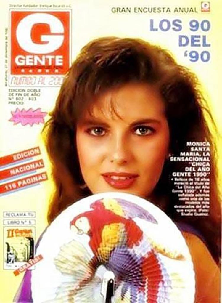 Mónica, en la portada de la revista Gente, en pleno auge de su carrera