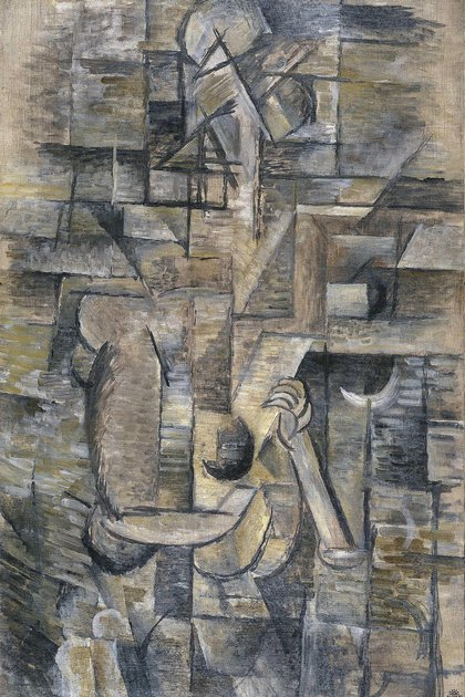 Mujer con mandolina de Georges Braque