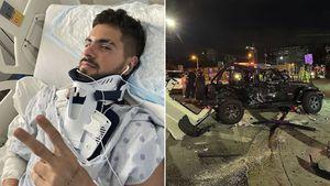 El brutal accidente de Fer Vázquez, de Rombai, en Miami: destruyó su camioneta cuando iba con amigos