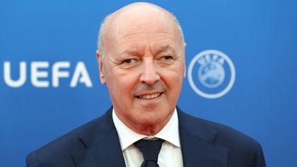 Giuseppe Marotta, ex dirigente de Juventus y actual director deportivo del Inter, fue el encargado de llevar adelante el desembarco de Paulo Dybala a la Vecchia Signora (AFP)