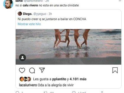 Algunos de los comentarios en las redes en referencia a la publicación de Calu (Foto: Instagram)