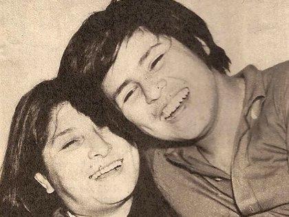 Mercedes Sosa y Fabián Matus, de adolescente (Foto: Facebook)
