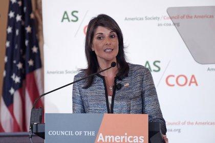 La exembajadora estadounidense ante las Naciones Unidas Nikki Haley (EFE/Lenin Nolly/ARCHIVO)