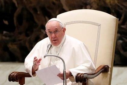 El papa Francisco, en la audiencia general semanal (Reuters)