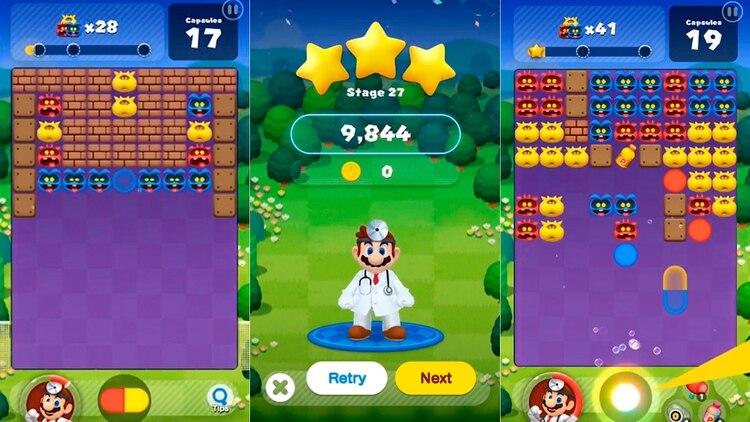 """El clásico """"Dr. Mario World"""" es una franquicia que se adapta perfectamente a la dinámica que supone un teléfono móvil. (Foto: Nintendo)"""