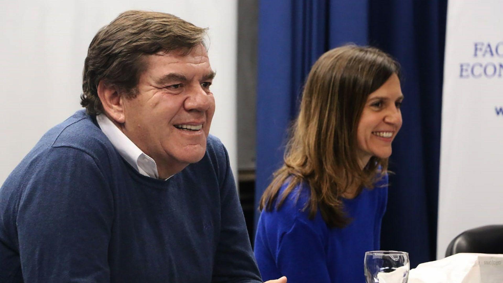 Los precandidatos a intendentes de General Pueyrredón, Guillermo Montenegro (Juntos por el Cambio) y Fernanda Raverta (Frente de Todos).