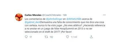 Carlos Morales defendió a Gabriel Deck