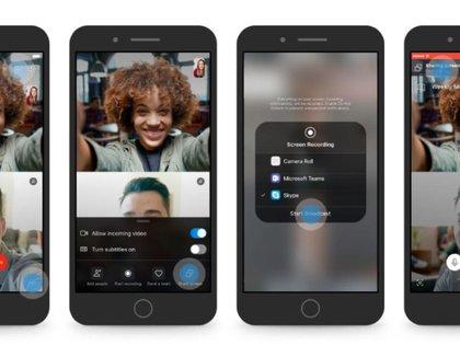 Es posible grabar videos y compartir pantalla.