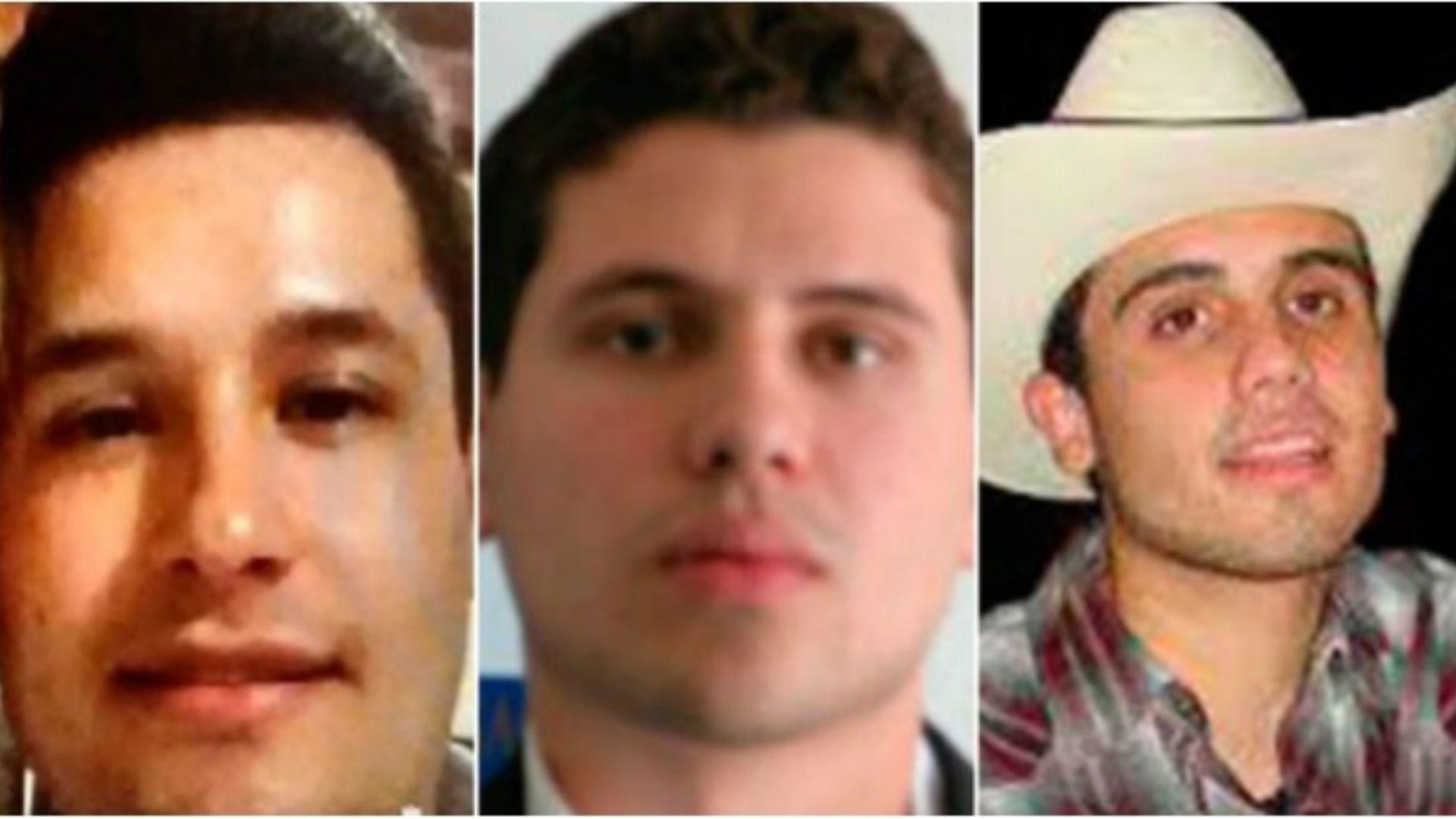 """Jesús Alfredo, Iván Archibaldo y Ovidio Guzmán, """"Los Chapitos"""", han sido señalados como miembros activos del Cártel de Sinaloa  (Foto: archivo)"""