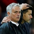 FILE PHOTO: Soccer Football - Premier League - Manchester United v Tottenham Hotspur - Old Trafford, Manchester, Britain - August 27, 2018 Tottenham manager Mauricio Pochettino and Manchester United manager Jose Mourinho REUTERS/Andrew Yates/File Photo EDITORIAL USE ONLY. No use with unauthorized audio, video, data, fixture lists, club/league logos or