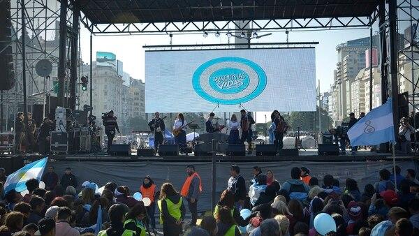 Sobre el escenario hubo música de todo tipo: desde chamamé hasta rock (Gustavo Gavotti)