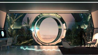 Los edificios estarían conectados por un sistema de túneles transparentes que permitían tener pérgolas y bóvedas para ayudar a reproducir la visual del exterior