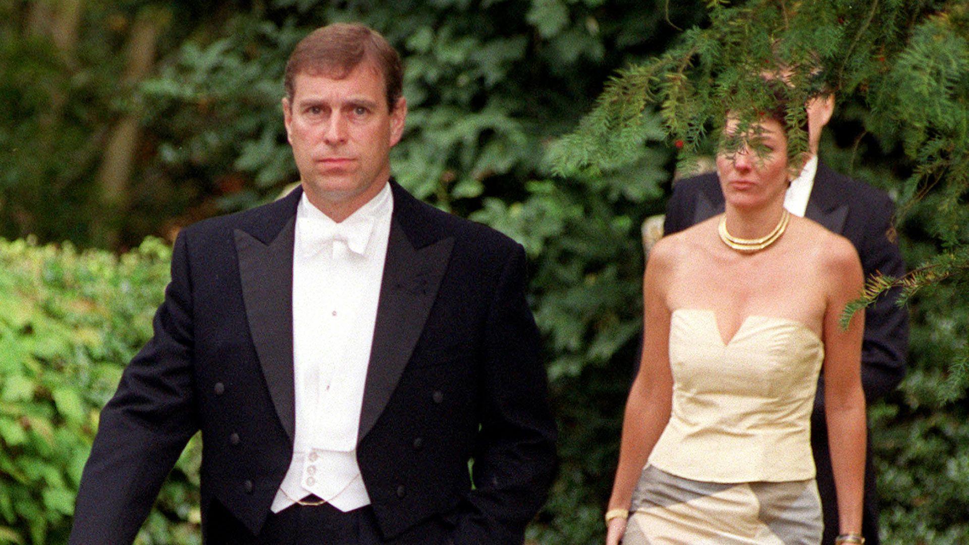 Principe Andres y Ghislaine Maxwell