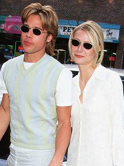 Brad Pitt con su ex novia Gwyneth Paltrow