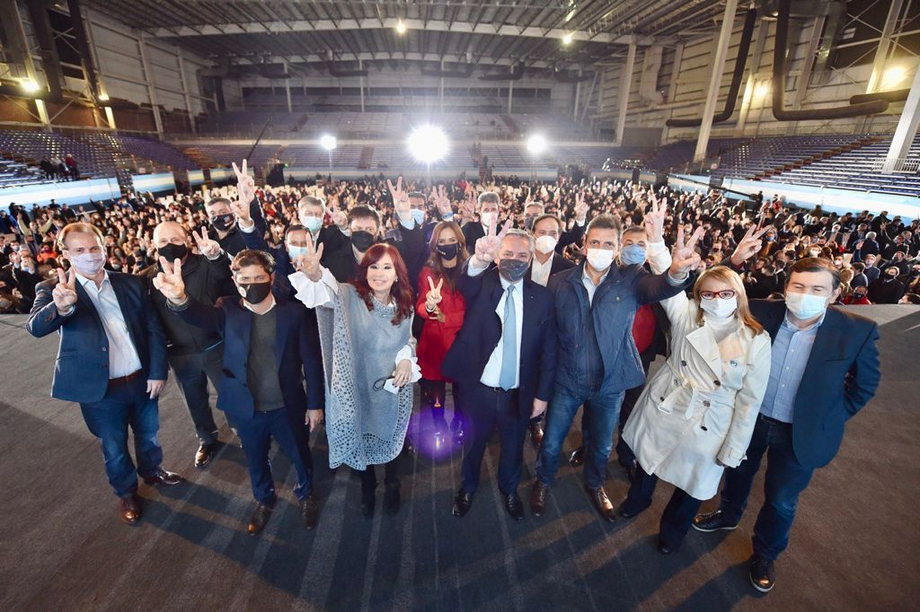 Cierre de campaña Frente de Todos. Alberto Cristina