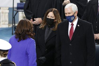 Mike Pence en la inauguración de Joe Biden como presidente de EEUU. REUTERS/Brendan McDermid