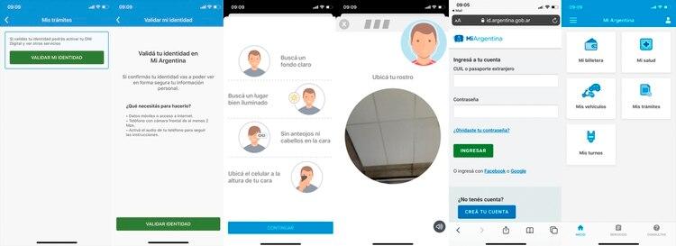 El último paso antes de acceder al DNI digital es ingresar una foto del usuario y validar los datos biométricos