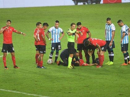 Los médicos de Independiente atendieron a Lucas González