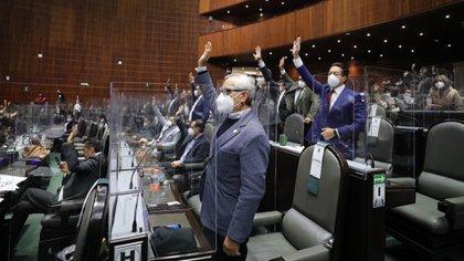 En el Pleno de San Lázaro, hasta 129 diputados solo pueden ingresar cuando el formato es mixto (Foto: Cuartoscuro)
