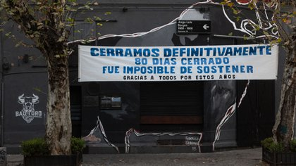 Un bar cerrado en Palermo (Adrián Escandar)