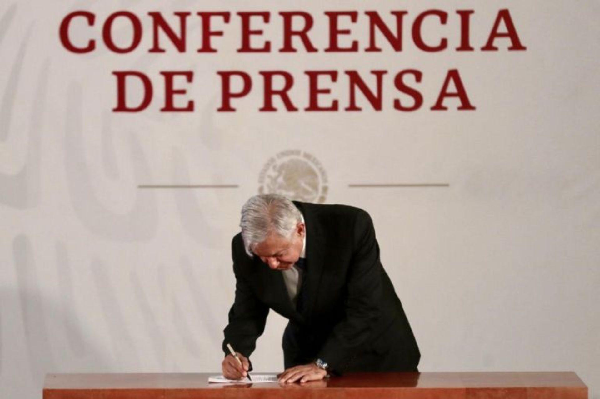 La Oficina de Presidencia asegura que no encuentra dicho documento (Foto: Presidencia de México)