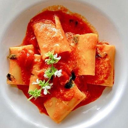 Paccheri, el segundo  plato más pedido de la carta