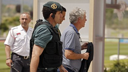 Angel Maria Villarfue detenido por la Guardia Civil españolaen el marco de una investigación sobre corrupción(AP)