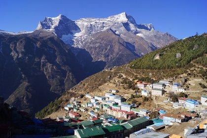 Aldea Nepalí en las alturas