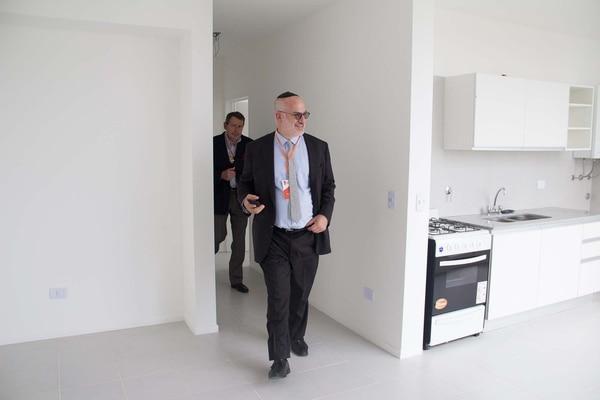 Eduardo Elsztain, presidente del Banco Hipotecario en el acto de presentación del complejo