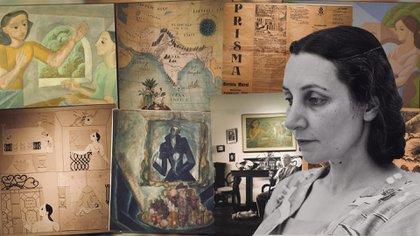 """""""Norah Borges. Una mujer en la vanguardia"""" en el Museo Nacional de Bellas Artes hasta el 1.° de marzo de 2020 (Crédito Infobae Cultura)"""