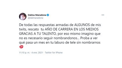 La reacción de Dalma Maradona tras los dichos de Rocío Oliva