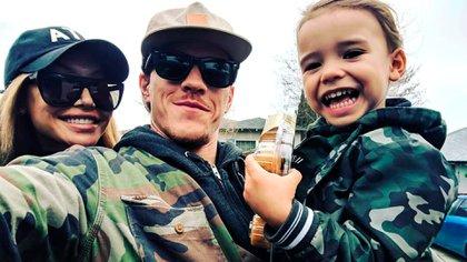 Naya Rivera, Ryan Dorsey y el hijo de ambos, Josey, de cuatro años (Ryan Dorsey/Instagram)