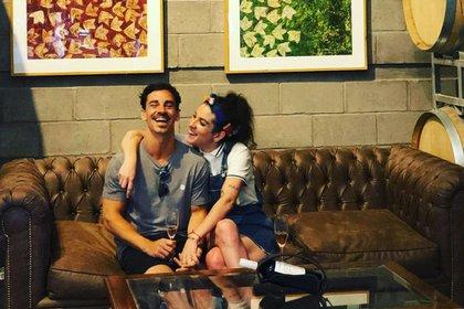 Juana Repetto y su novio, Sebastián Graviotto