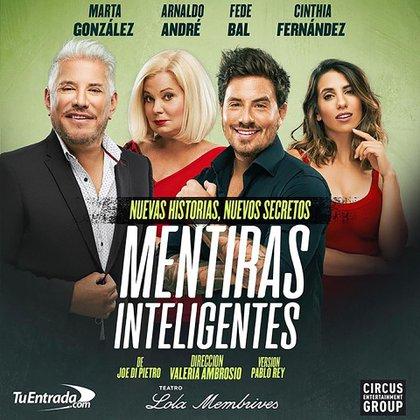 """""""Mentiras inteligentes"""" se estrena el 14 de enero en el Teatro Lola Membrives"""