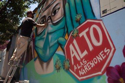 En México se registraron 103 agresiones contra el personal de salud tan solo en los meses de abril y mayo. (FOTO: MAGDALENA MONTIEL /CUARTOSCURO.COM)