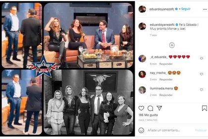 El actor Eduardo Yáñez confirmó que Anette Michel ya forma parte de Televisa. @eduardoyanezfc / Instagram