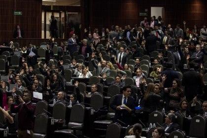 MORENA, PT, PRI , PT y PES votaron a favor de la Ley Orgánica de la Fiscalía General de la República (Foto: Galo Cañas /CUARTOSCURO.COM)
